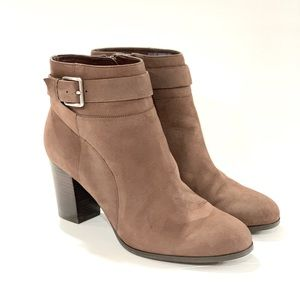 Cole Haan 6.5 brown unbuckle leather ankle boots